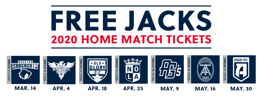 2020 Free Jacks Match Tickets
